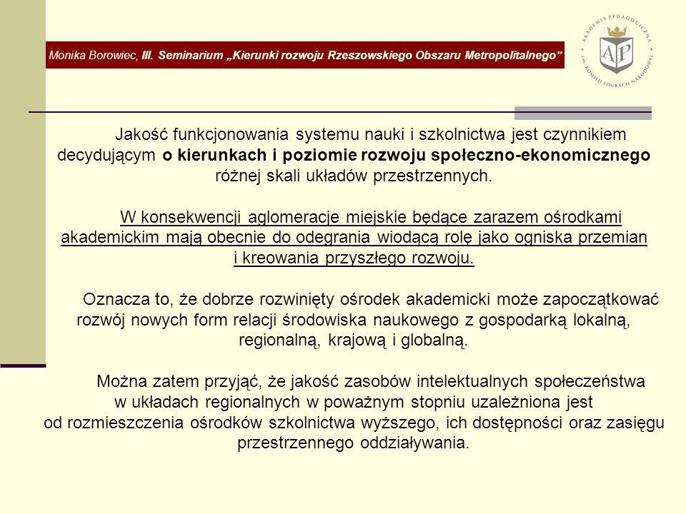 Wiodące ośrodki akademickie w Polsce.W 2006 r.