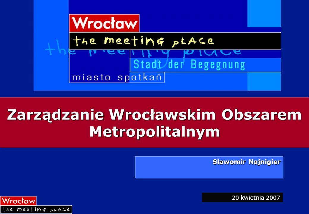 Ustalenia Ustalenia Strategii integracji przestrzennej i gospodarczej aglomeracji wrocławskiej Wizja Aglomeracja Wrocławska zintegrowana nowoczesna jednostka urbanistyczna o charakterze metropolitalnym.