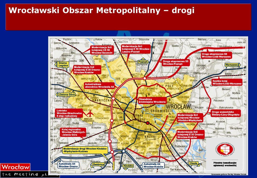 Wrocławski Obszar Metropolitalny – drogi