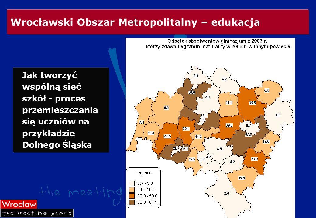 Wrocławski Obszar Metropolitalny – edukacja Jak tworzyć wspólną sieć szkół - proces przemieszczania się uczniów na przykładzie Dolnego Śląska