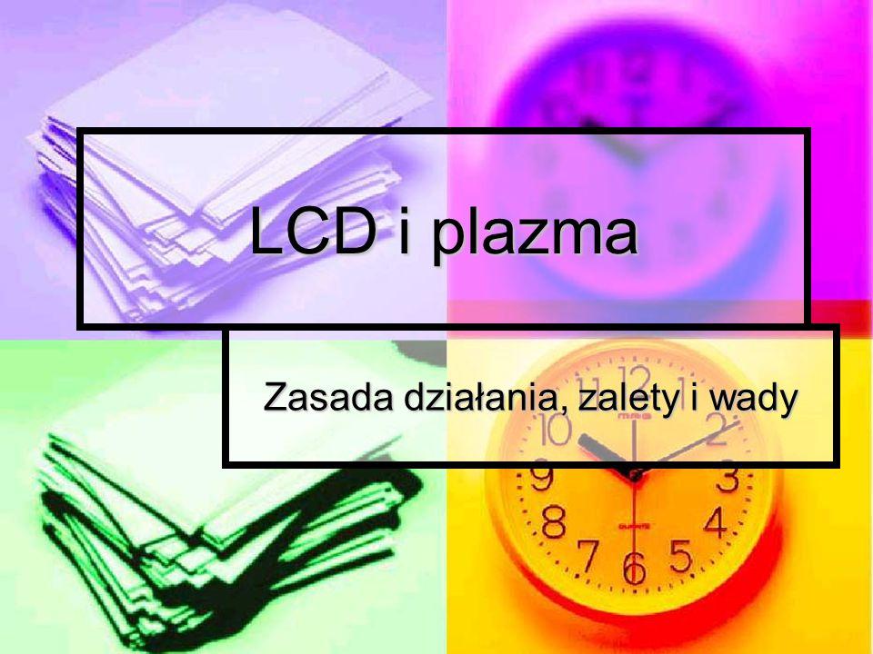 LCD i plazma Zasada działania, zalety i wady