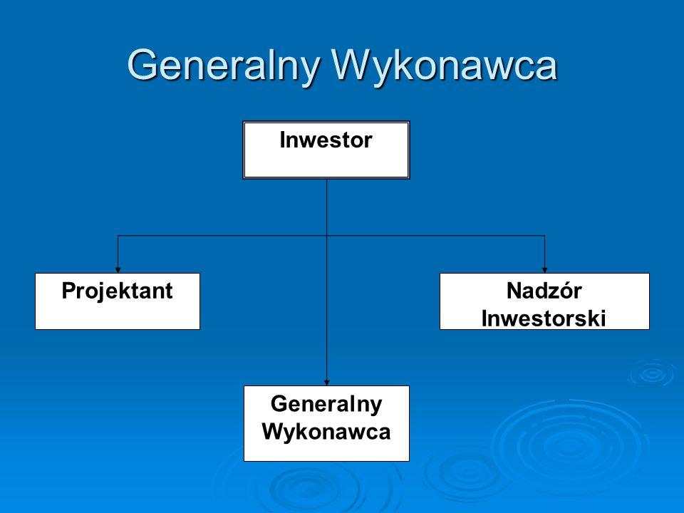 Inwestor Zastępczy Inwestor Zastępczy ProjektantGeneralny Wykonawca