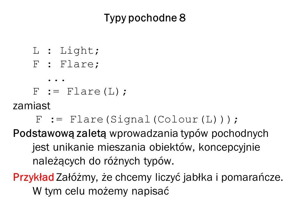 Typy pochodne 8 L : Light; F : Flare;...