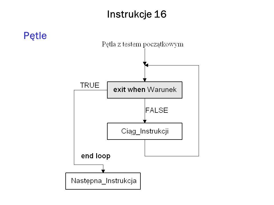 Instrukcje 16 Pętle