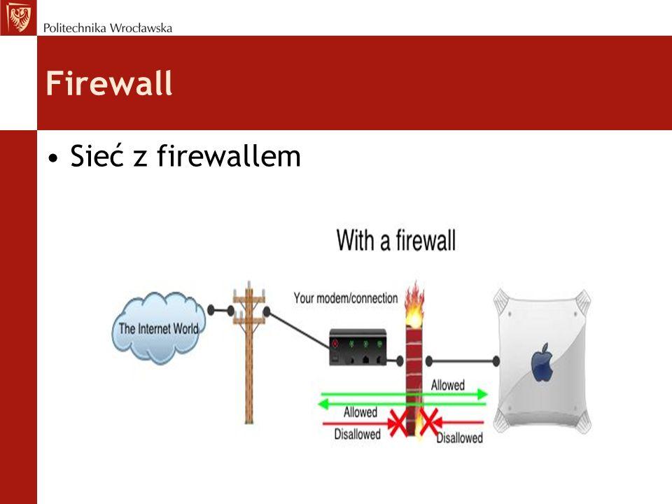 Podstawowe zadania: filtrowanie połączeń wchodzących i wychodzących odmawianie żądań dostępu uznanych za niebezpieczne monitorowanie ruchu sieciowego i zapisywanie najważniejszych zdarzeń do dziennika (logu) IDS (system detekcji intruzów) - są to programy filtrujące pakiety przepływające w sieci Firewall