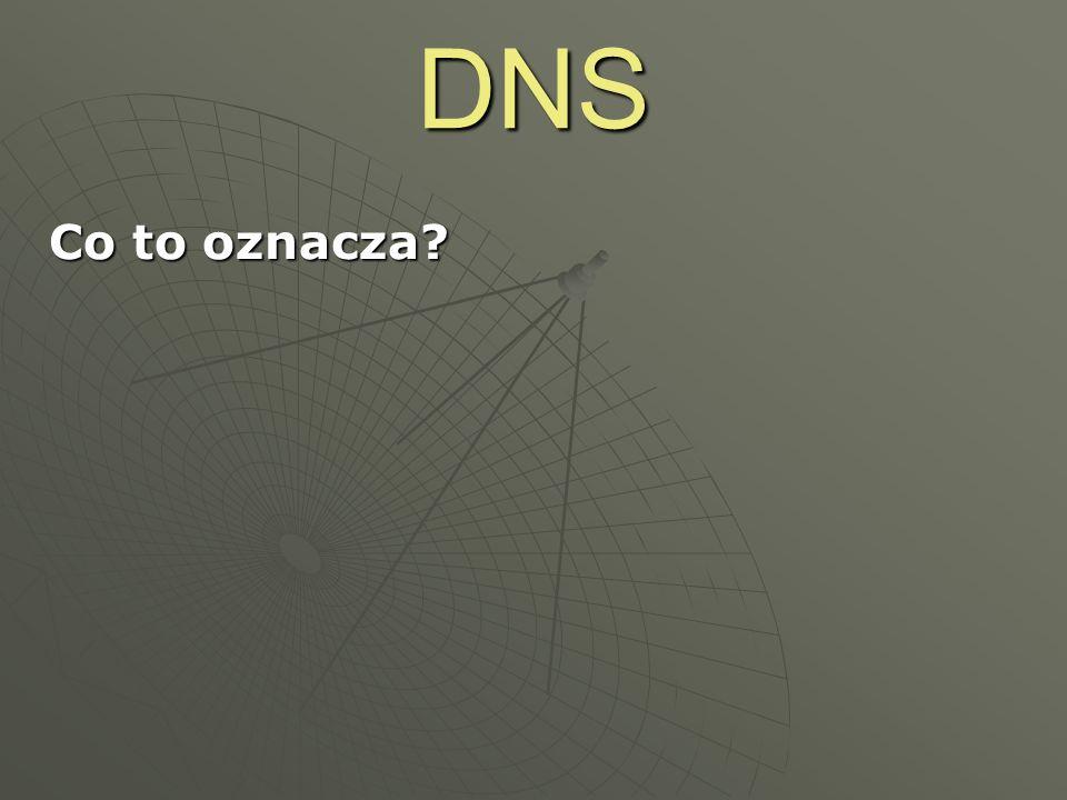 DNS Co to oznacza? 64.233.183.147213.180.130.200156.17.75.97152.46.7.81 www.google.plwww.onet.plstopka2.zsi.pwr.wroc.plwww.gutenberg.org ->->->->