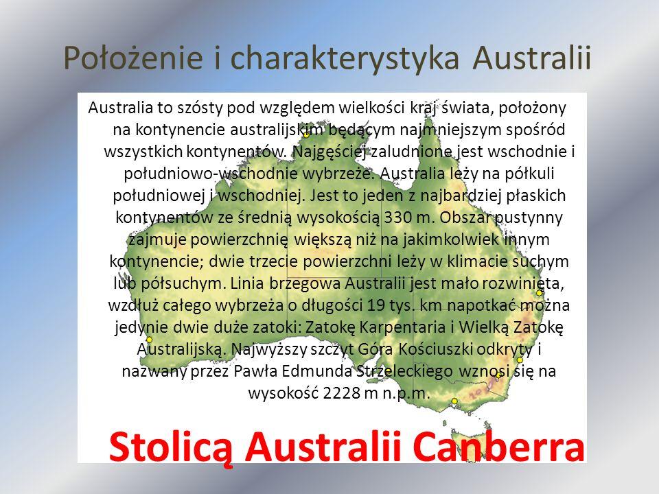 Położenie i charakterystyka Australii Australia to szósty pod względem wielkości kraj świata, położony na kontynencie australijskim będącym najmniejsz
