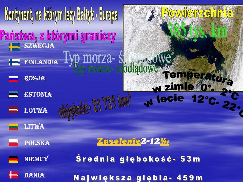 Szwecja Finlandia Rosja Estonia Ł otwa Litwa Polska Niemcy Dania ZasolenieZasolenie2-12