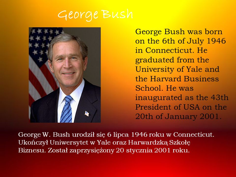 George W.Bush married Laura Welch on the 5th of November 1977.