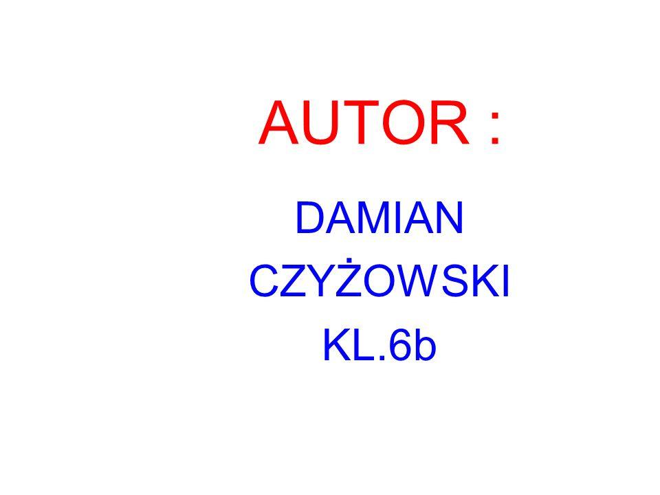 AUTOR : DAMIAN CZYŻOWSKI KL.6b