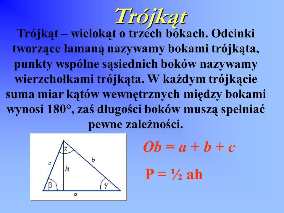 Zastosowanie trójkąta w architekturze Kopuła geodezyjna ( kopuła Fullera ) – wielościan, który odwzorowuje powierzchnię kuli.