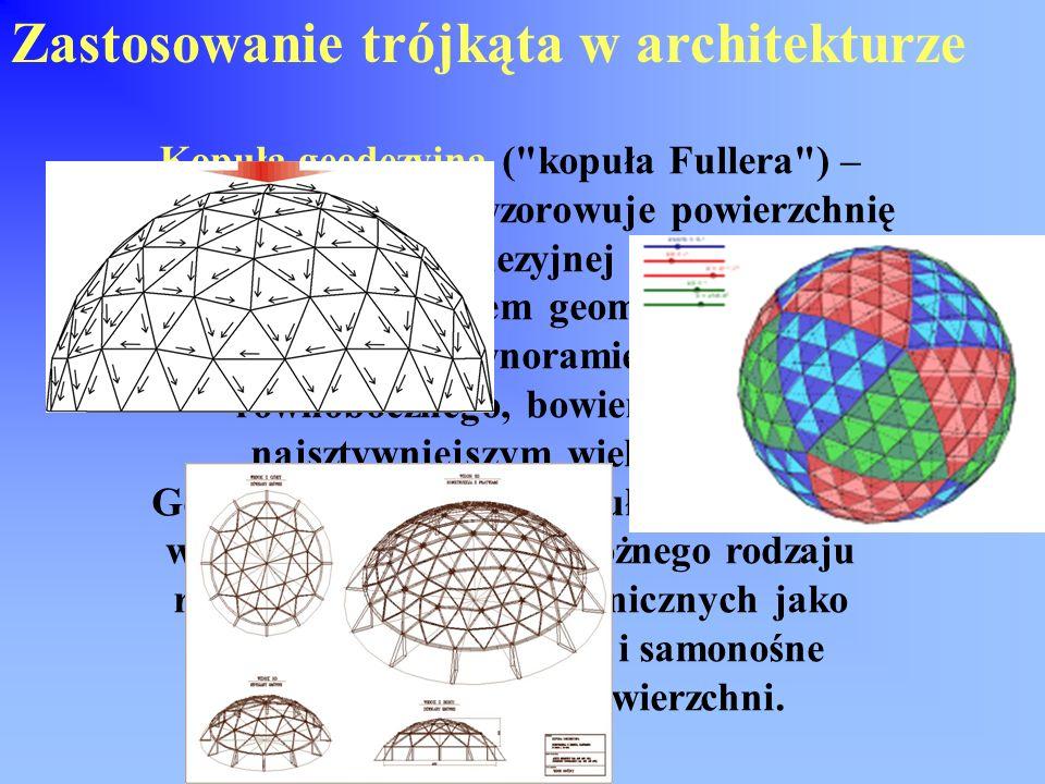 Budynek zbudowany z elementów w kształcie trójkąta Okna w kształcie trójkąta