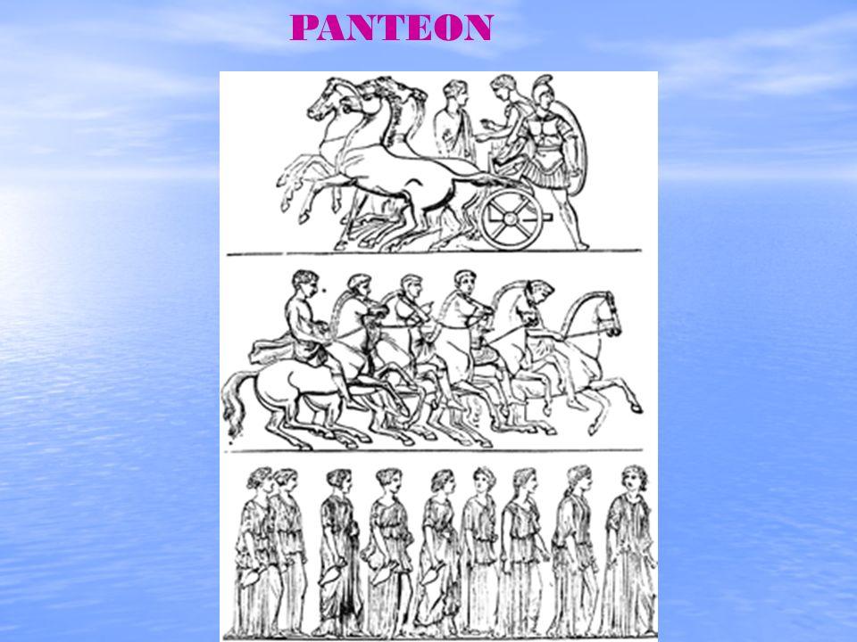 Grecy wyobrażali sobie bogów na podobieństwo wielkiej ludzkiej rodziny. Czasami bogowie kłócili się i wówczas niebo było pełne burzowych chmur. Zwykle