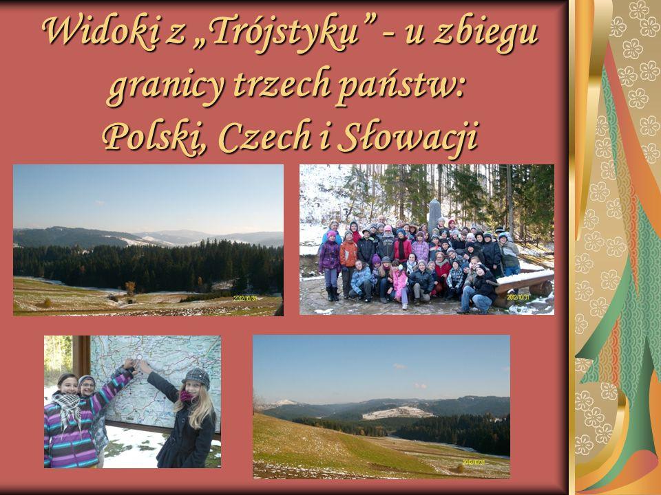 Widoki z Trójstyku - u zbiegu granicy trzech państw: Polski, Czech i Słowacji