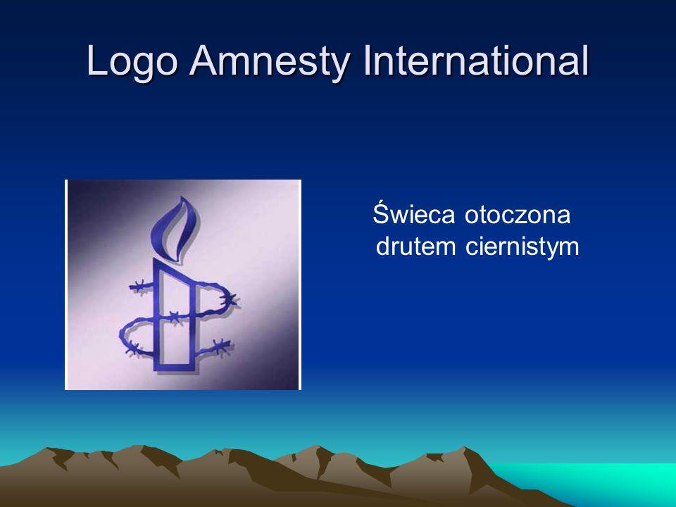 Logo Amnesty International Świeca otoczona drutem ciernistym