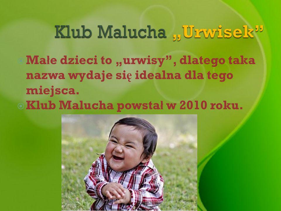 Ma ł e dzieci to urwisy, dlatego taka nazwa wydaje si ę idealna dla tego miejsca. Klub Malucha powsta ł w 2010 roku.