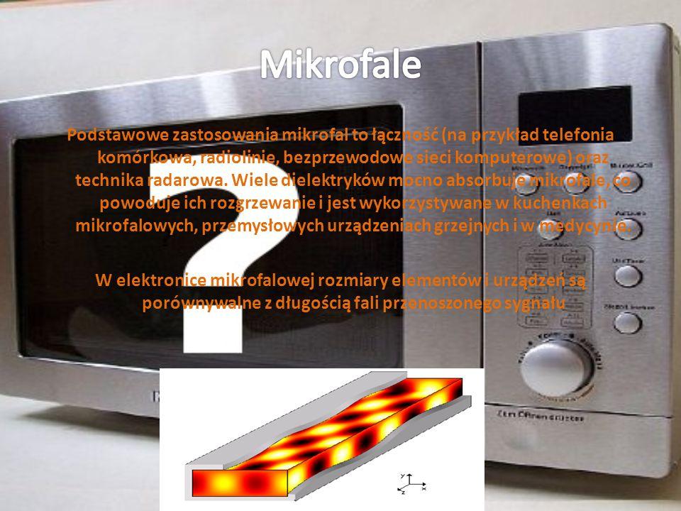 Podstawowe zastosowania mikrofal to łączność (na przykład telefonia komórkowa, radiolinie, bezprzewodowe sieci komputerowe) oraz technika radarowa. Wi