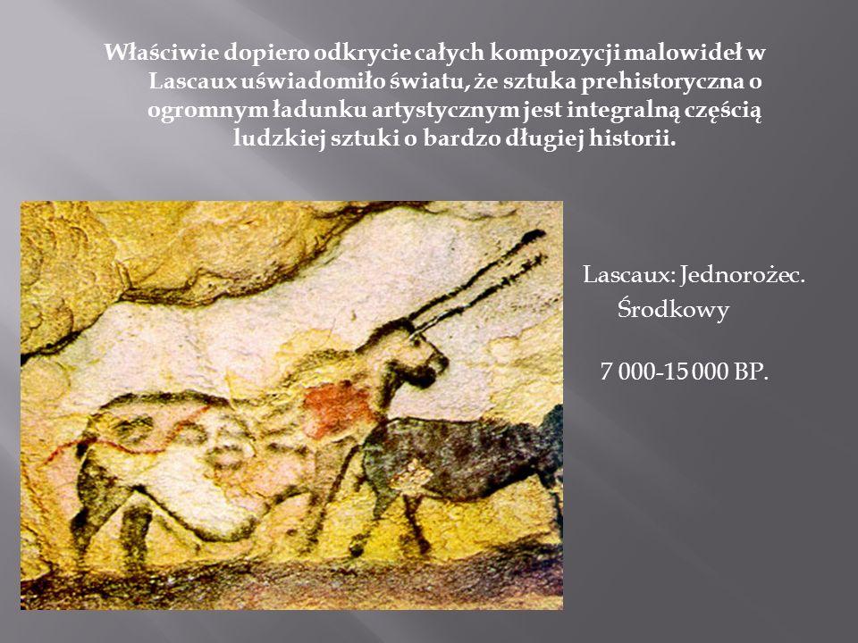 Właściwie dopiero odkrycie całych kompozycji malowideł w Lascaux uświadomiło światu, że sztuka prehistoryczna o ogromnym ładunku artystycznym jest int