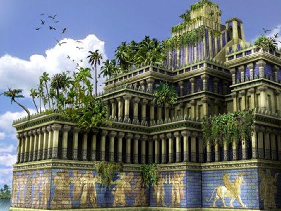 Wiszące ogrody królowej Semiramidy w Babilonie Ich niezwykłość budziła podziw współczesnych, a zdumienie i wielkie zainteresowanie potomnych.