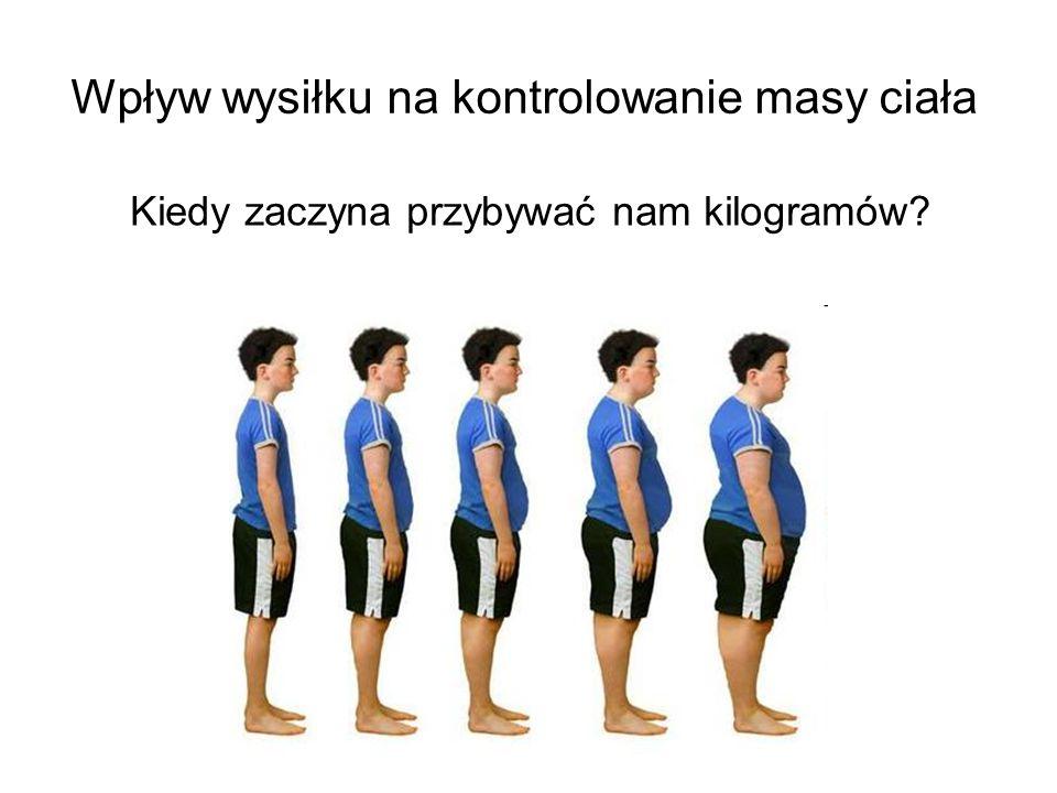 Wpływ wysiłku na kontrolowanie masy ciała Kiedy zaczyna przybywać nam kilogramów?