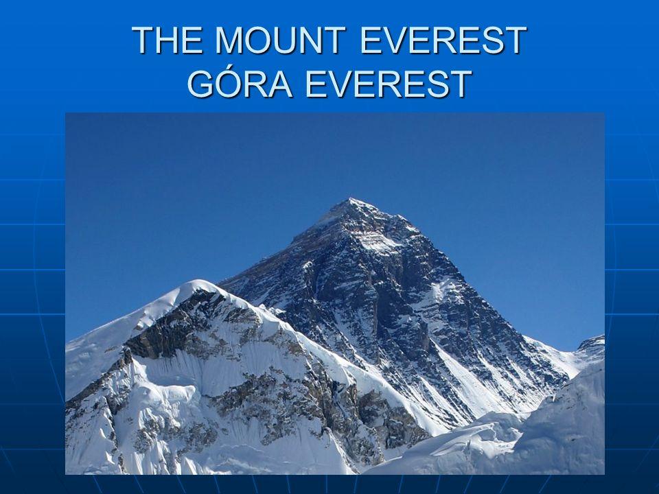 THE MOUNT EVEREST GÓRA EVEREST