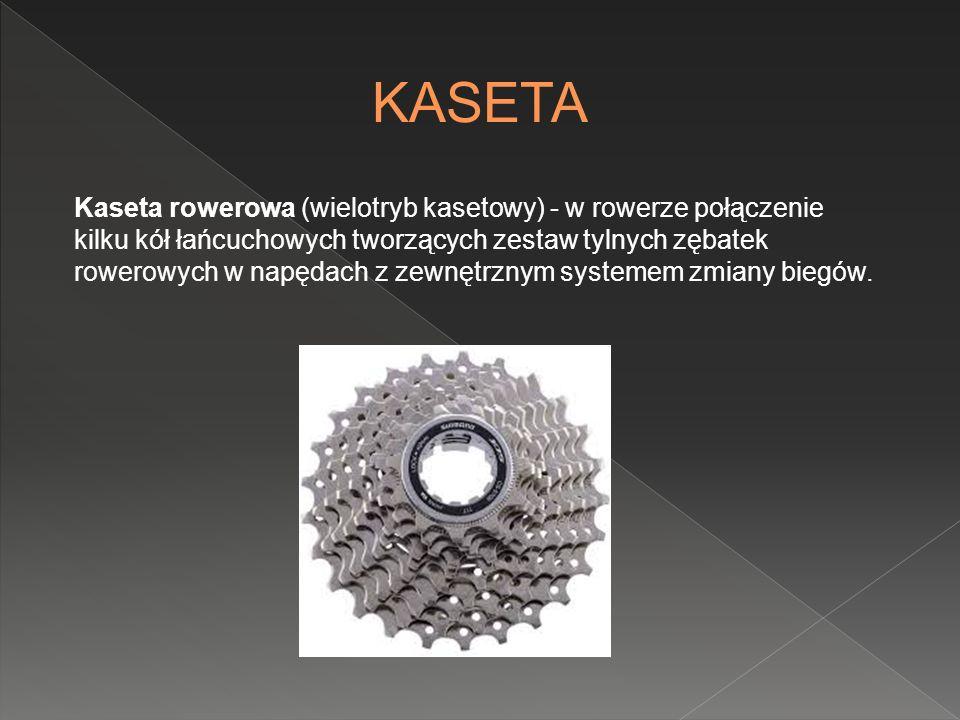 Kaseta rowerowa (wielotryb kasetowy) - w rowerze połączenie kilku kół łańcuchowych tworzących zestaw tylnych zębatek rowerowych w napędach z zewnętrzn