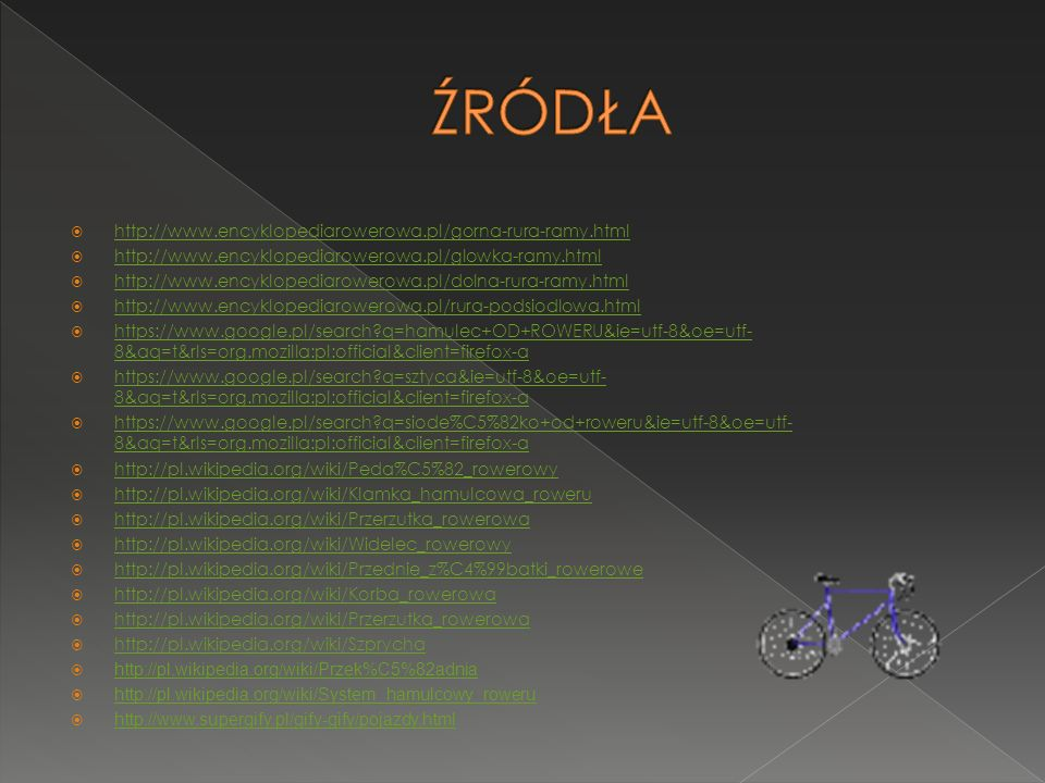 http://www.encyklopediarowerowa.pl/gorna-rura-ramy.html http://www.encyklopediarowerowa.pl/glowka-ramy.html http://www.encyklopediarowerowa.pl/dolna-r