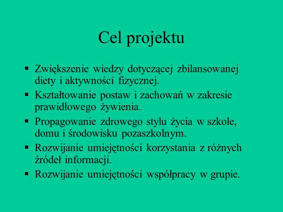 Projekt realizowano na następujących zajęciach: Kole przyrodniczym panie Ewa Jaworska i Zofia Plechawska.