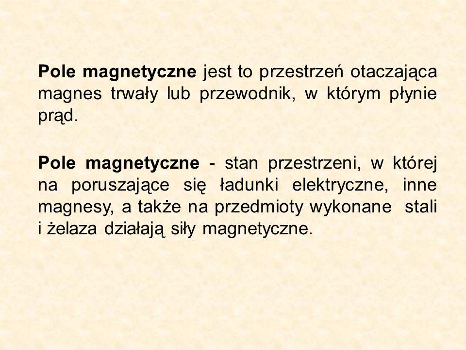Pole magnetyczne jest to przestrzeń otaczająca magnes trwały lub przewodnik, w którym płynie prąd.