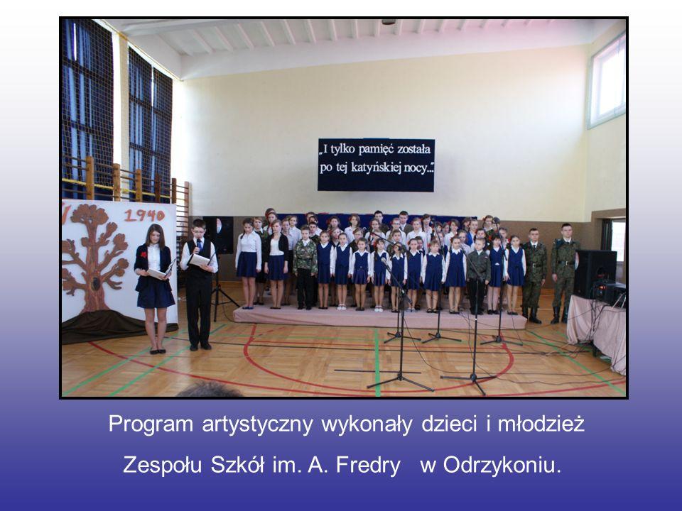 Program artystyczny wykonały dzieci i młodzież Zespołu Szkół im. A. Fredry w Odrzykoniu.