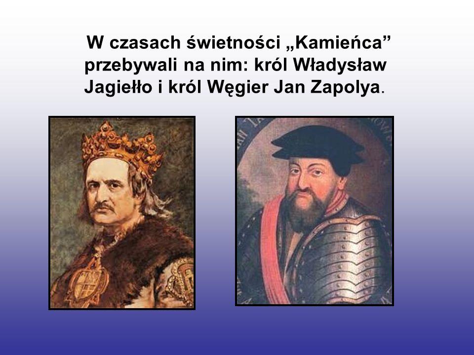 W czasach świetności Kamieńca przebywali na nim: król Władysław Jagiełło i król Węgier Jan Zapolya.