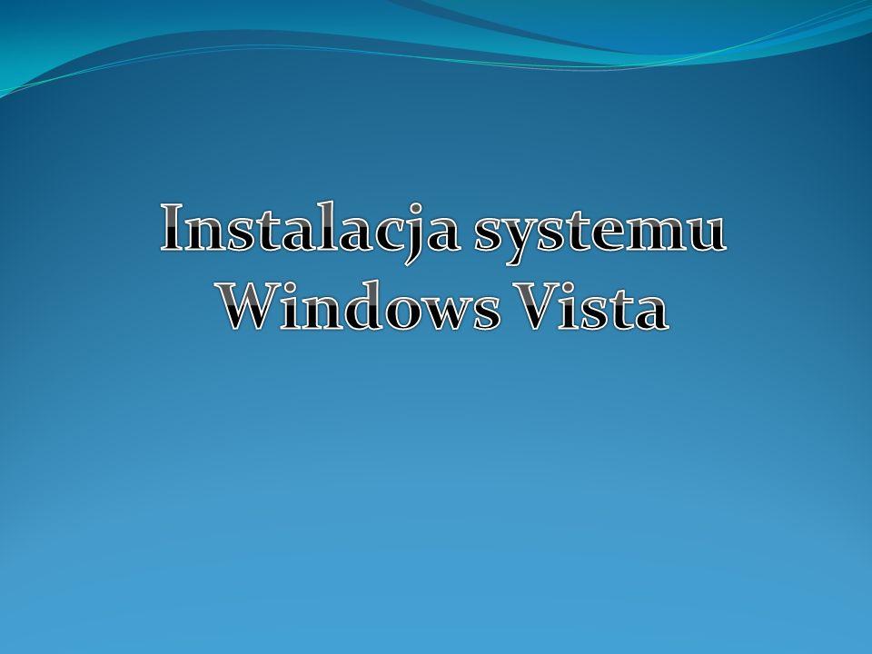 Wymagania sprzętowe: Windows Vista Home Premium, Windows Vista Business, Windows Vista Enterprise i Windows Vista Ultimate Procesor 1 GHz 32-bitowy (x86) lub 1 GHz 64-bitowy (x64) 1 GB pamięci systemowej Karta graficzna obsługująca interfejs Windows Aero 128 MB pamięci graficznej (minimalnie) Dysk twardy o pojemności 40 gigabajtów (GB), na którym jest 15 GB wolnego miejsca (15 GB wolnego miejsca zapewnia miejsce na magazynowanie plików tymczasowych podczas instalacji lub uaktualniania).
