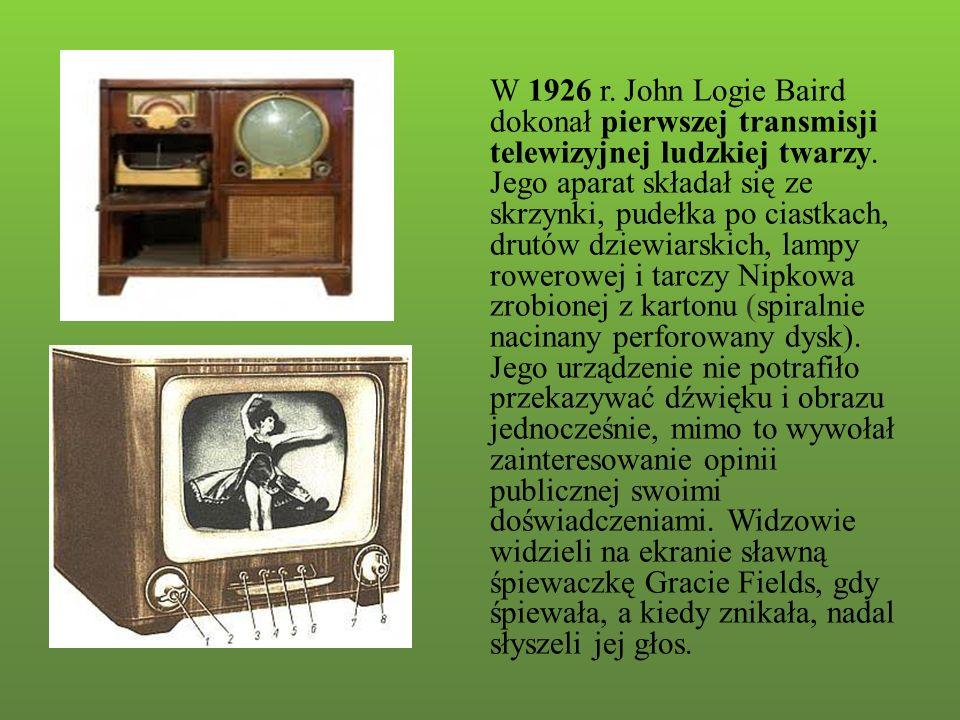 Transmisja telewizyjna z Londynu do Nowego Jorku, odbyła się 27 stycznia 1928 roku.