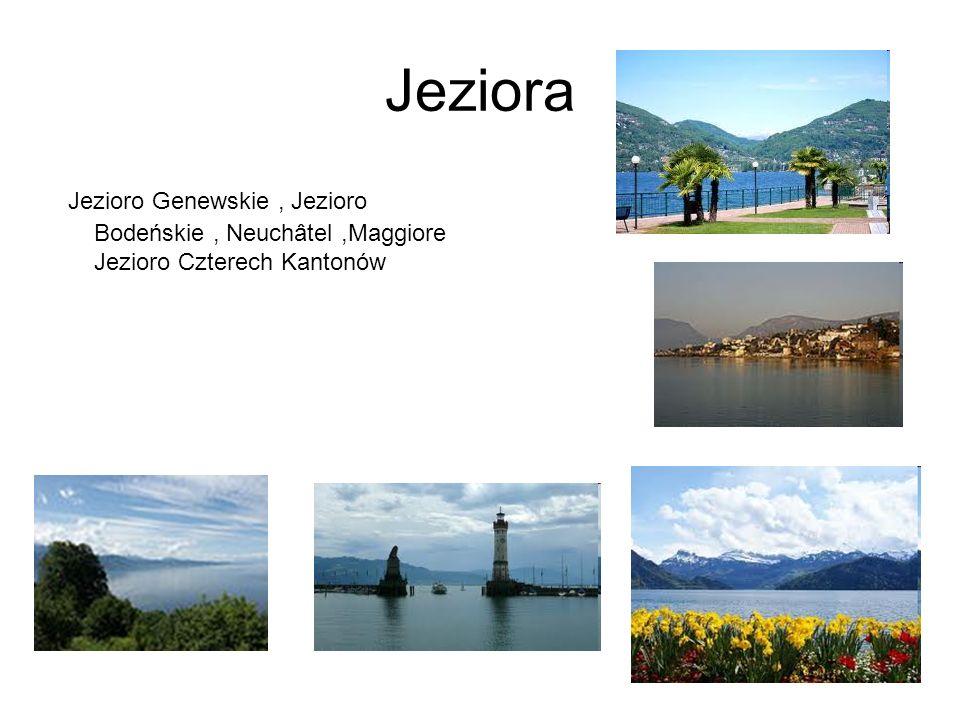 Jeziora Jezioro Genewskie, Jezioro Bodeńskie, Neuchâtel,Maggiore Jezioro Czterech Kantonów