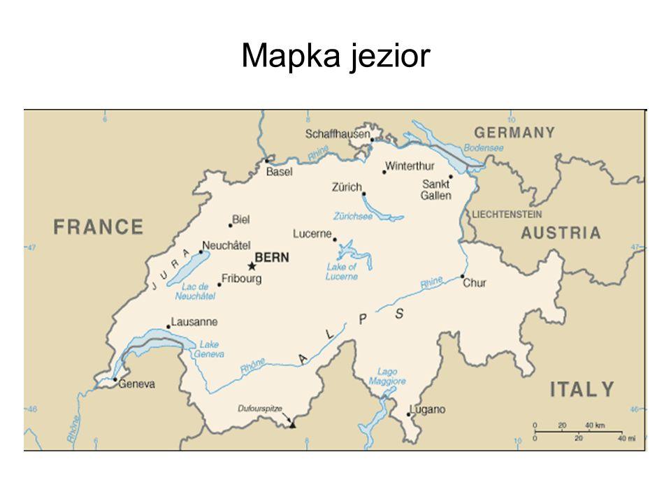 Mapka jezior