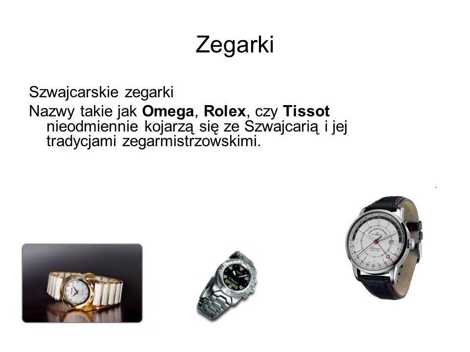 Zegarki Szwajcarskie zegarki Nazwy takie jak Omega, Rolex, czy Tissot nieodmiennie kojarzą się ze Szwajcarią i jej tradycjami zegarmistrzowskimi.