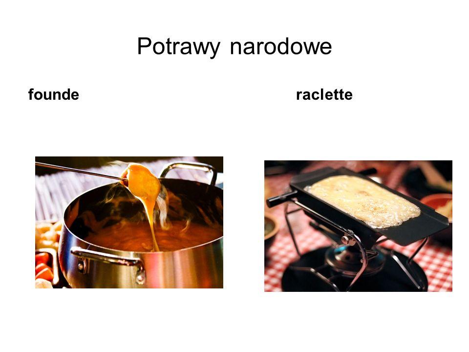Potrawy narodowe founde raclette