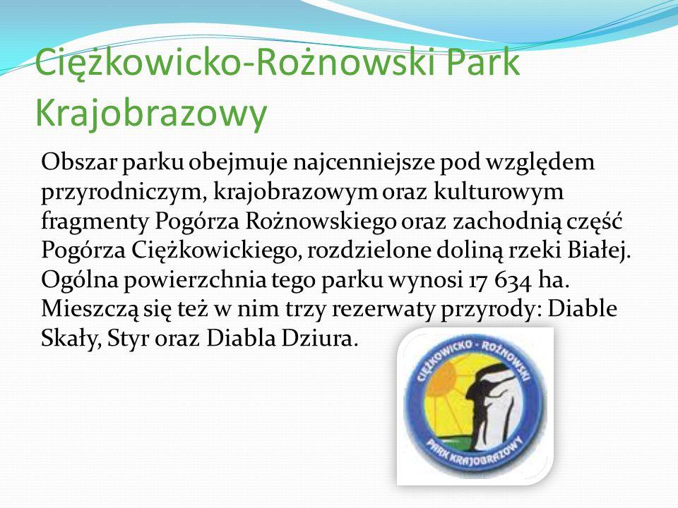 Ciężkowicko-Rożnowski Park Krajobrazowy Obszar parku obejmuje najcenniejsze pod względem przyrodniczym, krajobrazowym oraz kulturowym fragmenty Pogórz