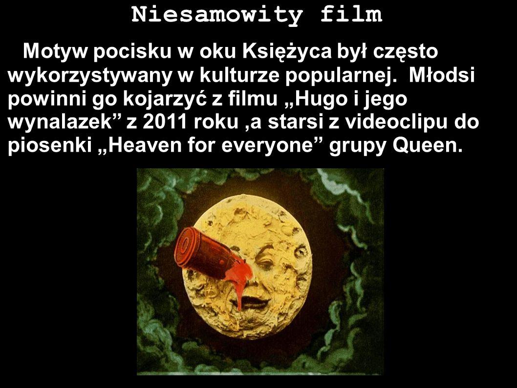 Niesamowity film Motyw pocisku w oku Księżyca był często wykorzystywany w kulturze popularnej. Młodsi powinni go kojarzyć z filmu Hugo i jego wynalaze