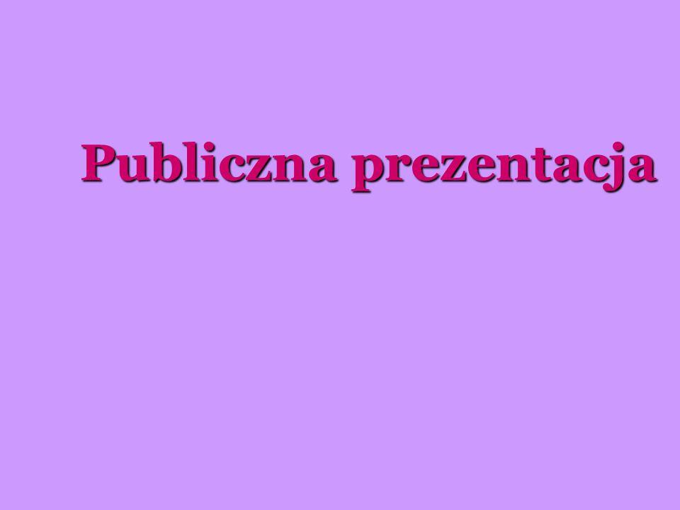 Publiczna prezentacja