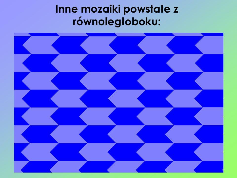 Inne mozaiki powstałe z równoległoboku: