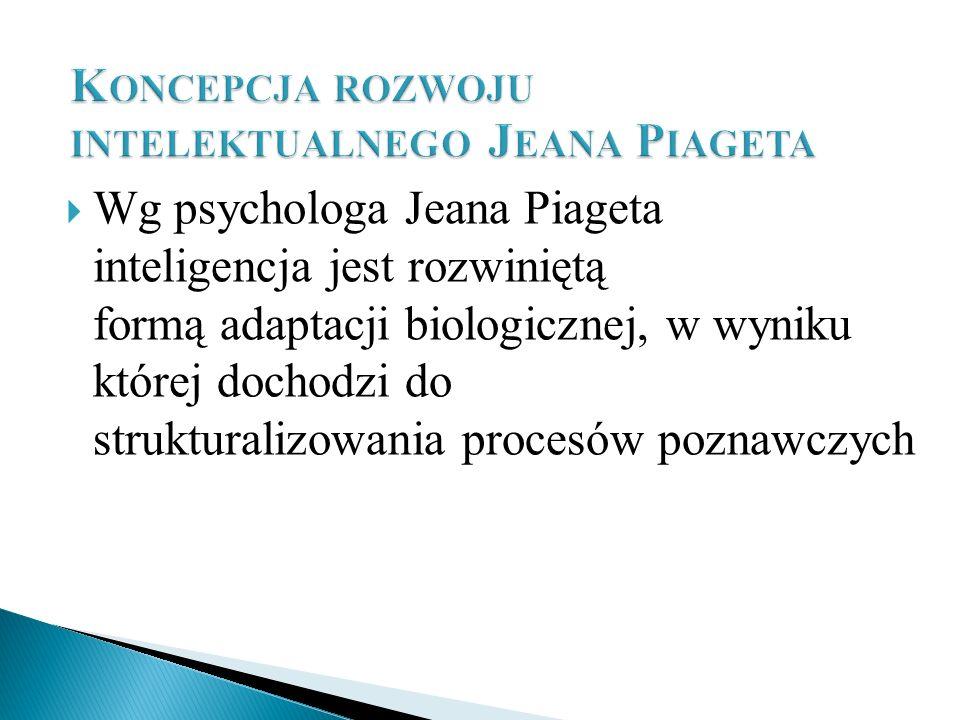 Wg psychologa Jeana Piageta inteligencja jest rozwiniętą formą adaptacji biologicznej, w wyniku której dochodzi do strukturalizowania procesów poznawc