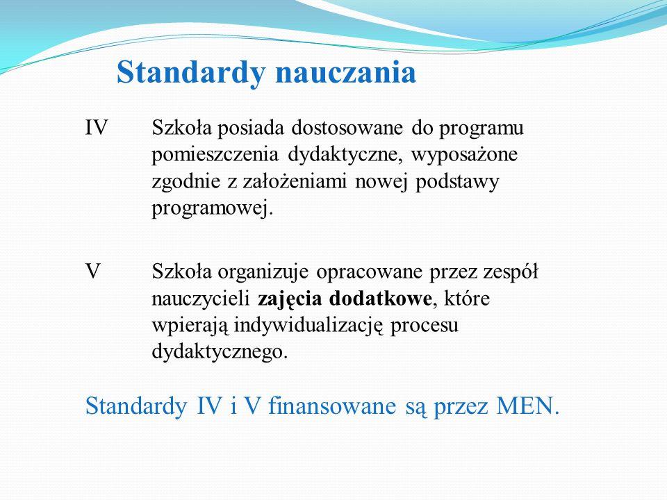 IV Szkoła posiada dostosowane do programu pomieszczenia dydaktyczne, wyposażone zgodnie z założeniami nowej podstawy programowej. V Szkoła organizuje