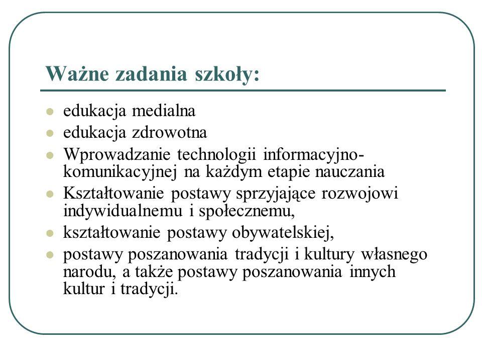 Edukacja polonistyczna Dziecko, które rozpoczyna naukę w klasie I: 4) interesuje się czytaniem i pisaniem; jest gotowe do nauki czytania i pisania; 5) słucha np.
