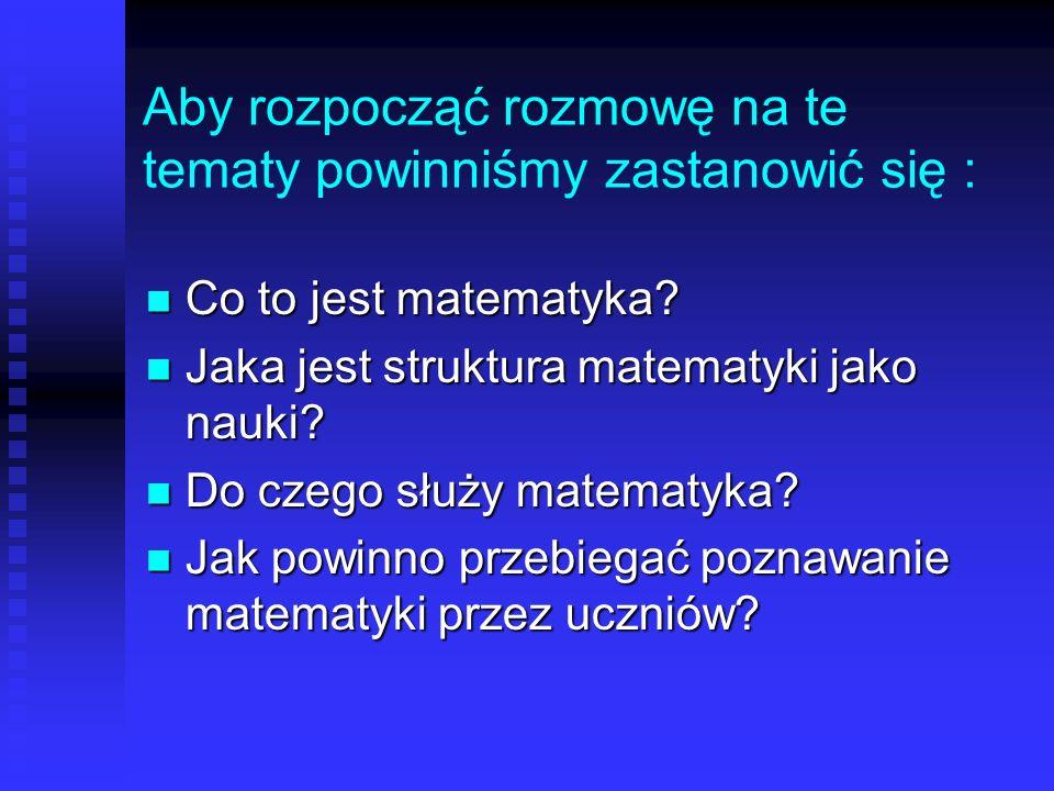 Efekty nauczania matematyki w Polsce Fakt czy Mit 3 .