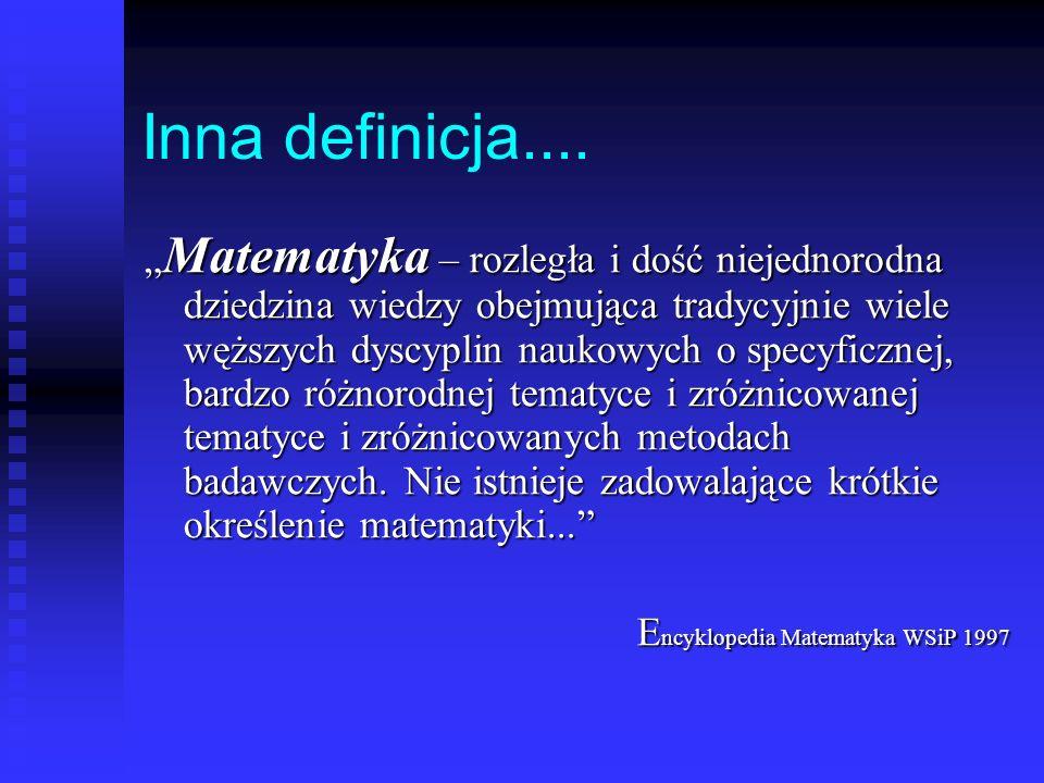 O matematyce.......