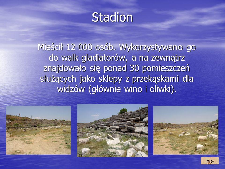 Stadion Mieścił 12 000 osób. Wykorzystywano go do walk gladiatorów, a na zewnątrz znajdowało się ponad 30 pomieszczeń służących jako sklepy z przekąsk