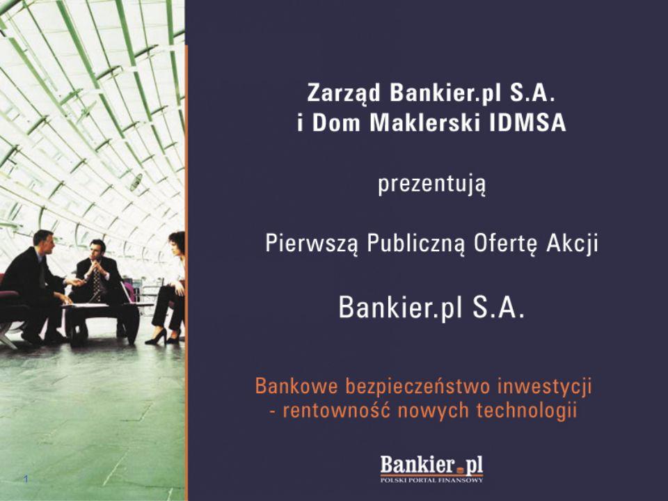 12 Rynek mediów Bankier.pl działa w segmencie finansowym mediów internetowych – najwyżej wycenianej części rynku medialnego.