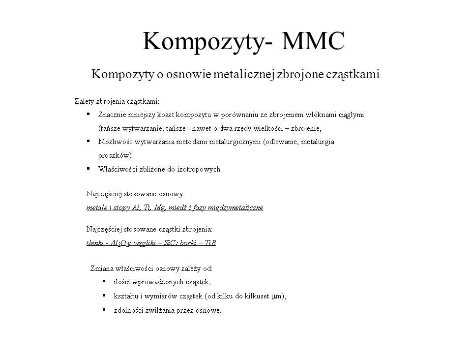 Kompozyty- MMC Kompozyty o osnowie metalicznej zbrojone cząstkami