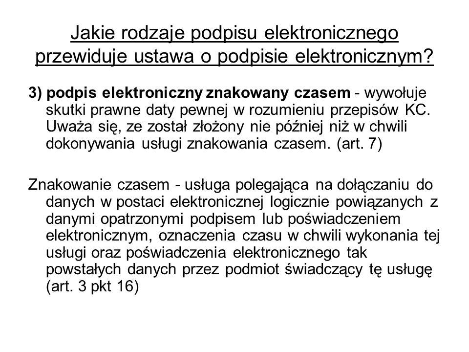 Jakie rodzaje podpisu elektronicznego przewiduje ustawa o podpisie elektronicznym.